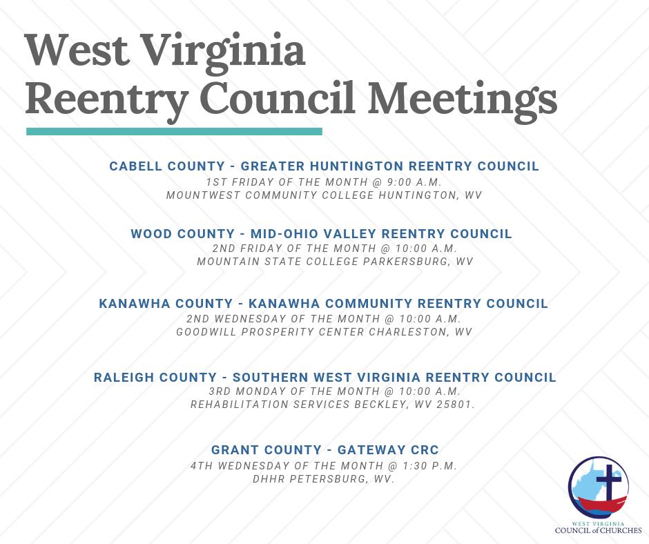 West Virginia Reentry Council Meetings